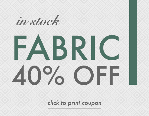 40% off in stock fabric